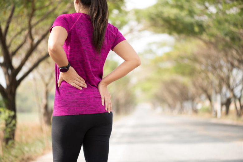 active woman experiencing hip pain