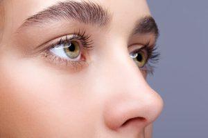 close up dry eyes
