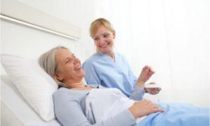 bedridden patient care with nurse